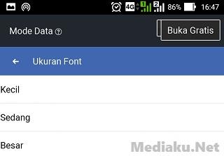 Mengecilkan Ukuran Font Di Facebook Lite