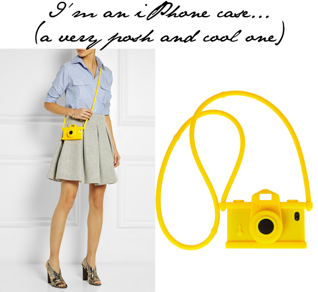 Moschino iphone camera case