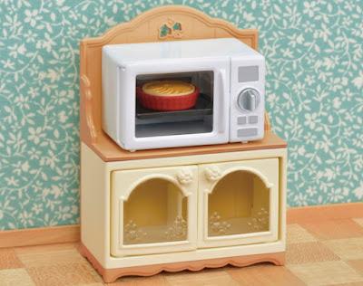 Игрушка микроволновка Calico Critters 2019 Microwave Cabinet