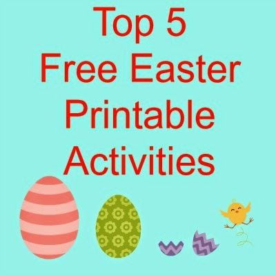 top 5 free easter printable activities