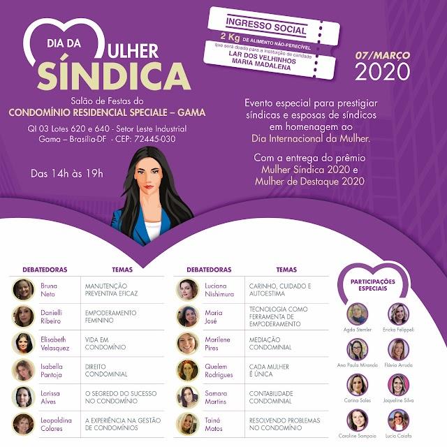 Síndicas e esposas de síndicos serão homenageadas no Dia da Mulher Síndica 2020