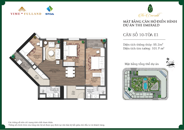 Thiết kế căn 10 tòa E1