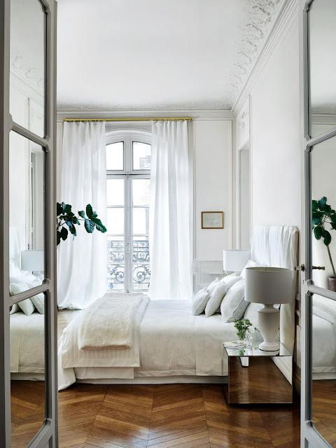 Parisian bedroom decor