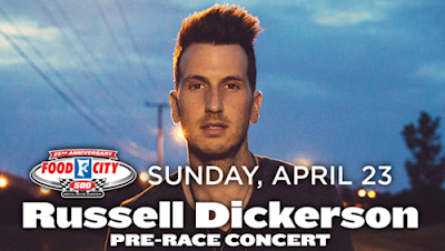 Russell Dickerson To Lend His Emerging Country Sound To The Food City 500 Pre-Race Concert