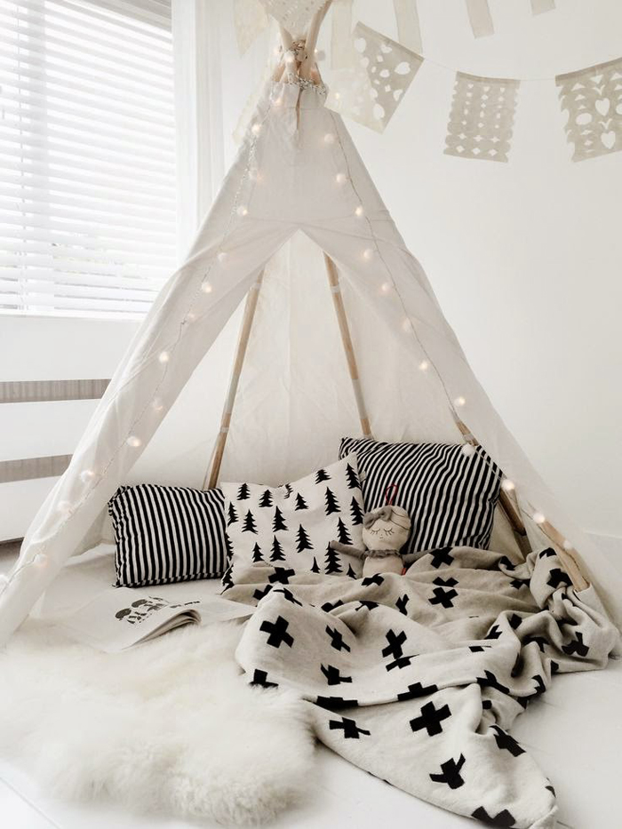 white tent for kids
