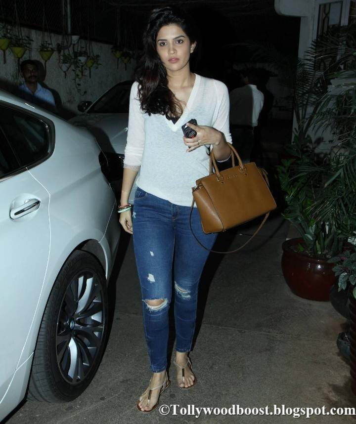 Deeksha Seth In White Shirt Jeans At Movie Special Screening