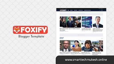 Foxify - News & Magazine Blogger Template