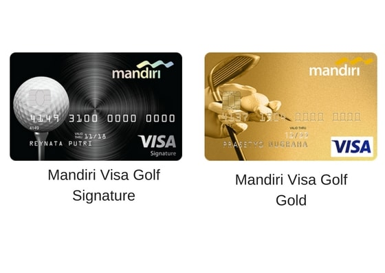 Gambar design mandiri Golf Gold dan Mandiri Golf signature