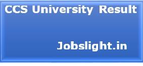 CCS University Result 2017