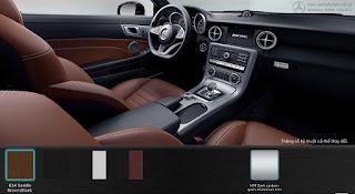 Nội thất Mercedes AMG SLC 43 2019 màu Đen/Nâu Saddle 834