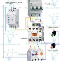 phase panel wiring diagram image wiring diagram phase controller wiring phase failure relay diagram on 3 phase panel wiring diagram