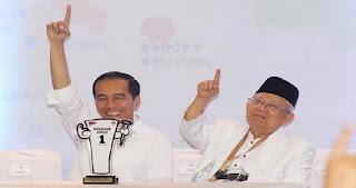 Sah! KPU Umumkan Hasil Pipres 2019 Tengah Malam Tadi, Jokowi-Ma'ruf Menang 55,5 Persen