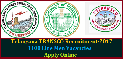 TS TRANSCO Junior Line Man JLM 1100  Posts Recruitment Notification Educational Qualifications Selection Procedure- Apply Online