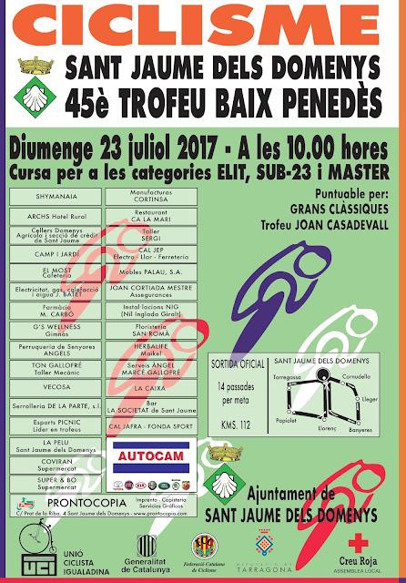 Esguard de Dona - 45è Trofeu Baix Penedès de Cicilsme - Festa Major Sant Jaume dels Domenys 2017