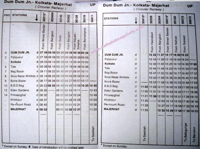 Dumdum – Majherhat Kolkata Circular Train Timetable – BBD ... Prostitution In Bengal