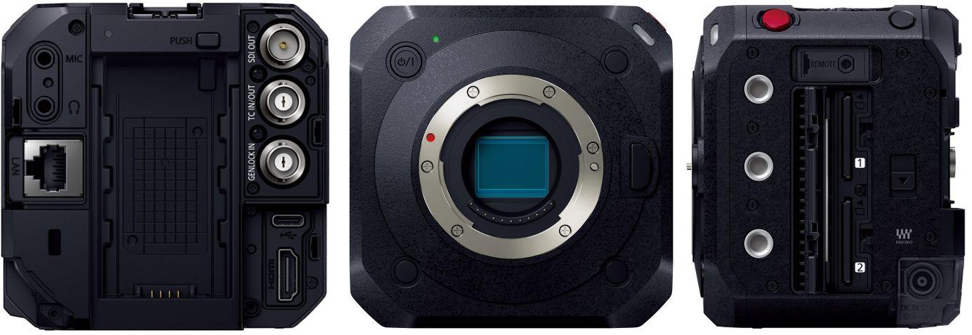 Разъемы на корпусе камеры Panasonic Lumix BGH1