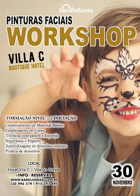 Workshop de pinturas faciais em Vila do Conde