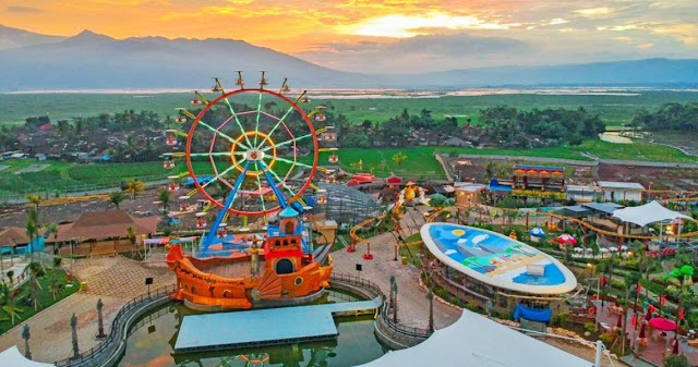 detinasi wisata baru saloka theme park semarang jawa tengah