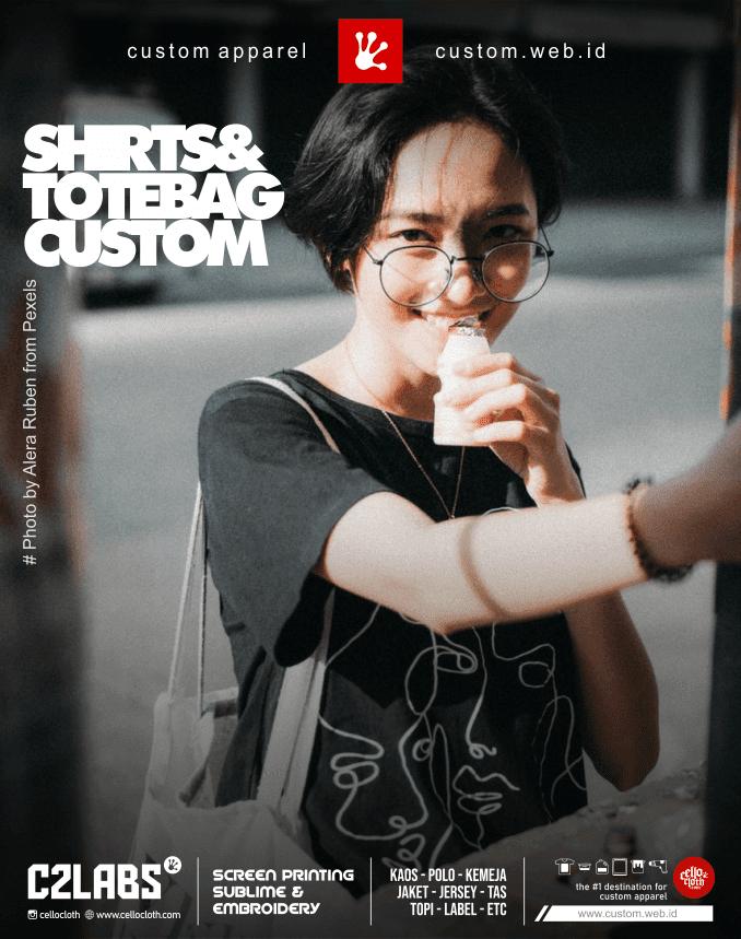 Kaos dan Totebag Custom Sablon and Printing - Vendor Sablon Terdekat Jogja