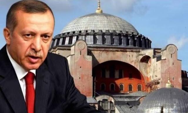 Παραλήρημα και προκλήσεις στον χριστιανισμό από τον Ερντογάν