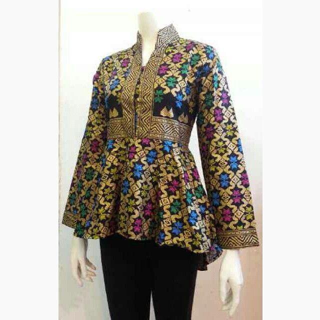 Model Batik Kerja Lengan Panjang Wanita: Model Baju Batik Wanita Terbaru 2016