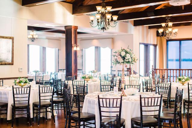 Tavares Pavilion on the Lake wedding reception decor