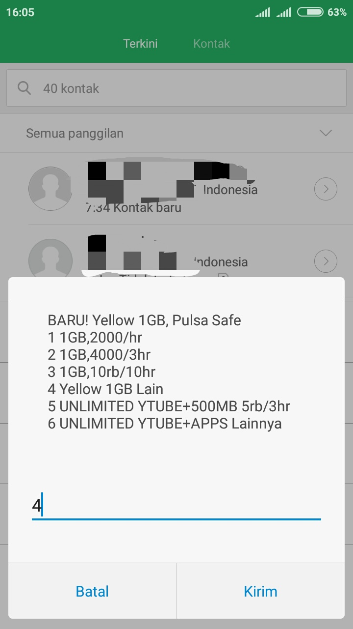 4chand Indosat Yellow 1gb 1hari Ter 1tekan 123111