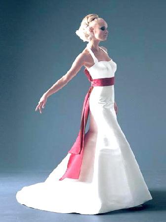Top red and white wedding dress | Fanzpixx