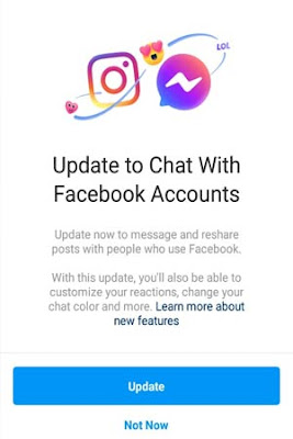 fitur  cross posting dm instagram dan facebook messenger