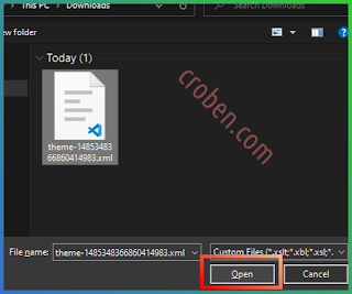 Restore Themes In Blogger Step 5