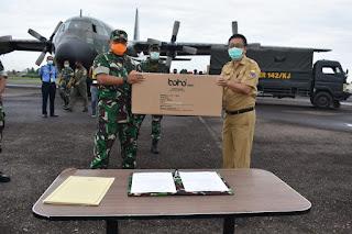 Pesawat Hercules TNI-AU Bawa Bantuan APD Untuk Tim Gugus Tugas Covid-19