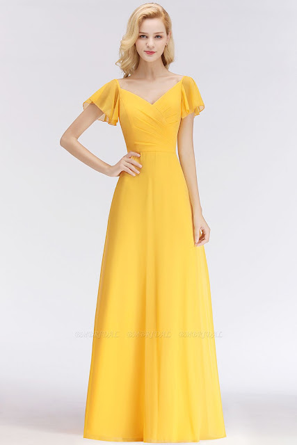 bridesmaid dress yellow