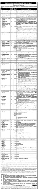 Provincial Assembly of the Punjab Jobs 2021 in Pakistan Latest jobs in Pakistan