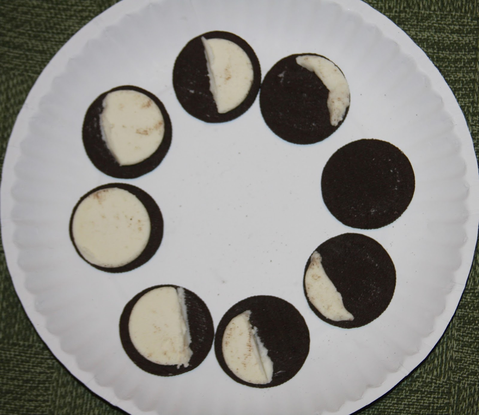 A Learning Journey L Is For La Luna Moon Oreo Cookie Moon Phase Activity