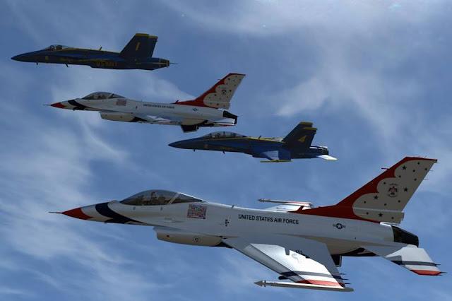 Blue Angels Thunderbirds flyovers Covid-19