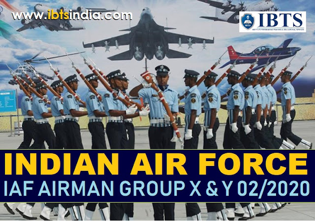 Indian Air Force IAF Airmen Group X & Y 02/2020 Online Form