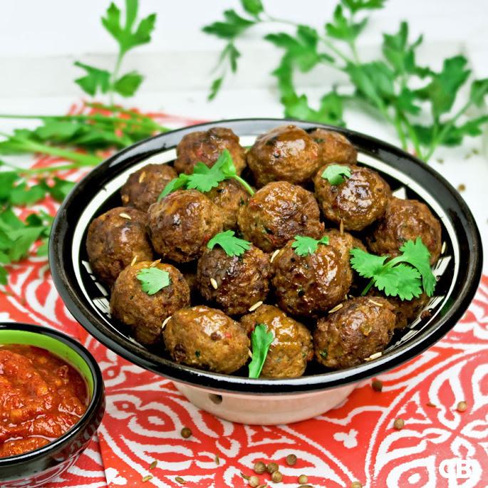 Marokkaanse gehaktballetjes met harissa