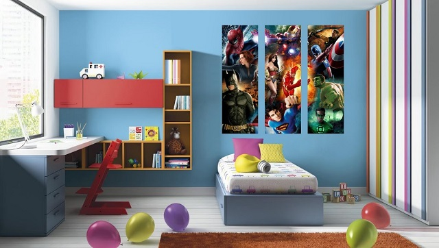 Dormitorios infantiles de superh roes - Habitaciones de ninos pintadas ...