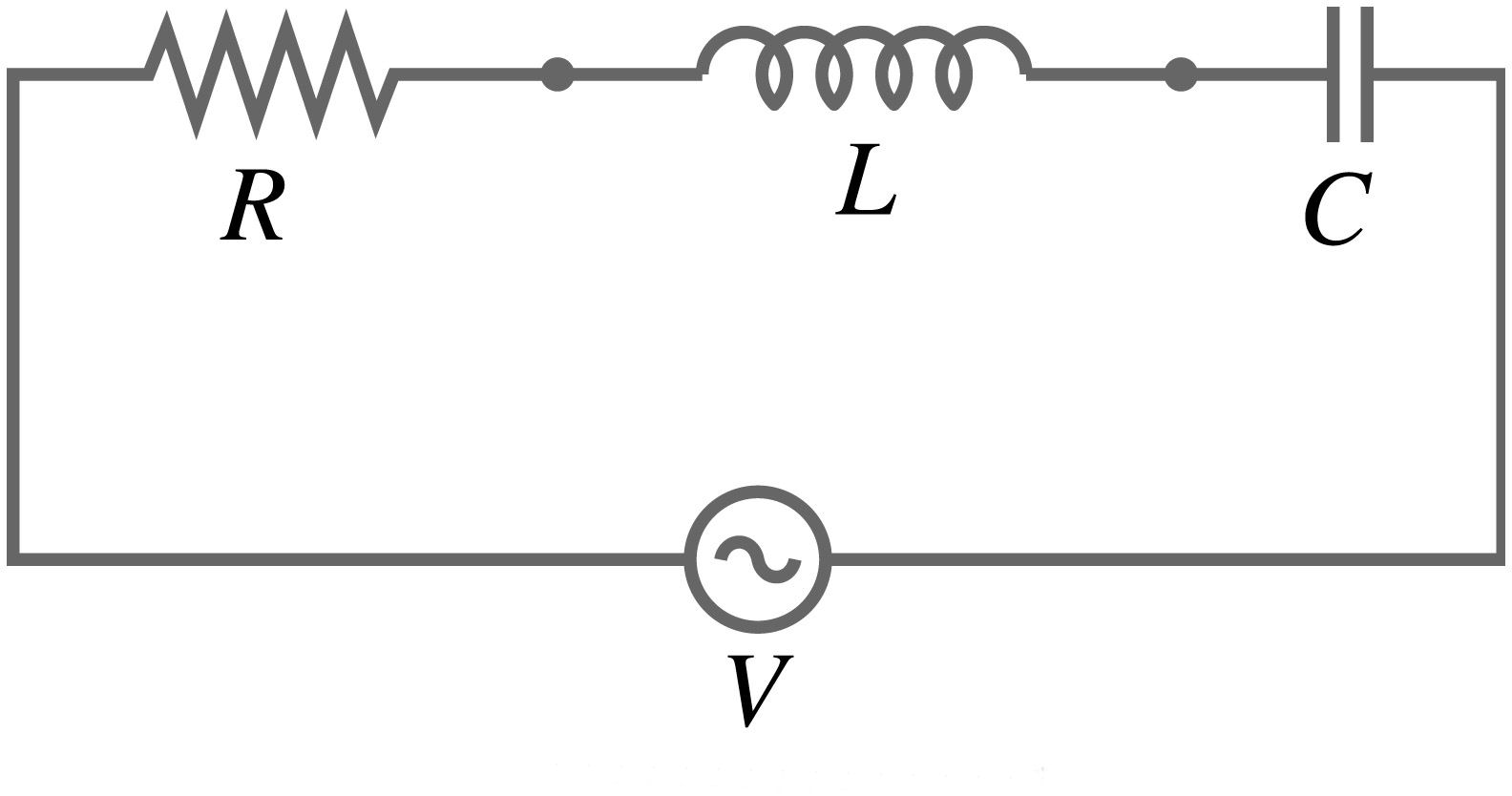 electronic turn  resonance in electrical circuits   deriving the frequency equation for series