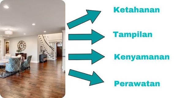 perbandinagn lantai kayu dan keramik