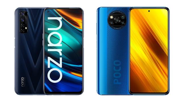 Perbandingan Desain Realme Narzo 20 Pro vs Poco X3 NFC