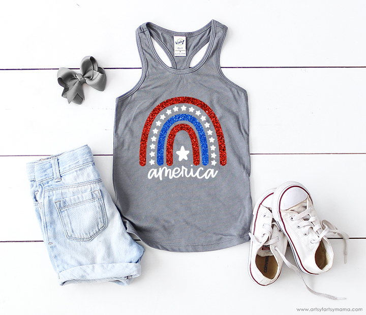 America 4th of July Shirt with Free Cut File