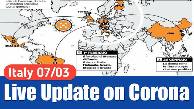 Corona in italy Update 07/03/2020