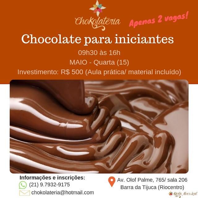 Curso de Chocolate para iniciantes - Chokolateria Maio 2019