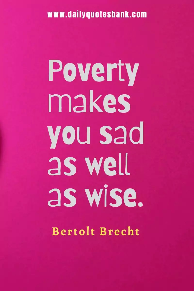Quotes About Poverty and Happiness
