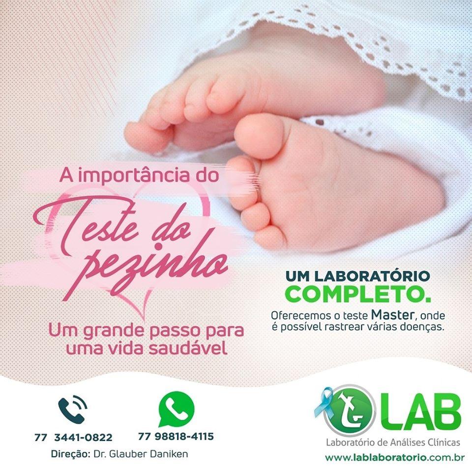 LAB Laboratório reforça a importância do teste do pezinho