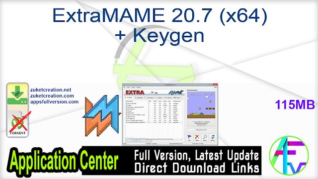 ExtraMAME 20.7 (x64) + Keygen