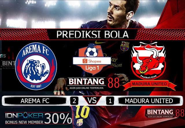 PREDIKSI BOLA - Pada hari Jumat, 8 November 2019 pukul 18:30 waktu indonesia barat akan di adakan laga pertandingan Liga 1 Shopee Indonesia antara Arema FC vs Madura United. Pertandingan ini nantinya akan di laksanakan di Stadion Kanjuruhan (Kepanjen).