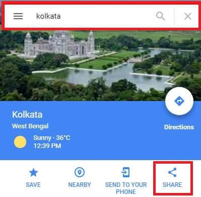 google map share on blog