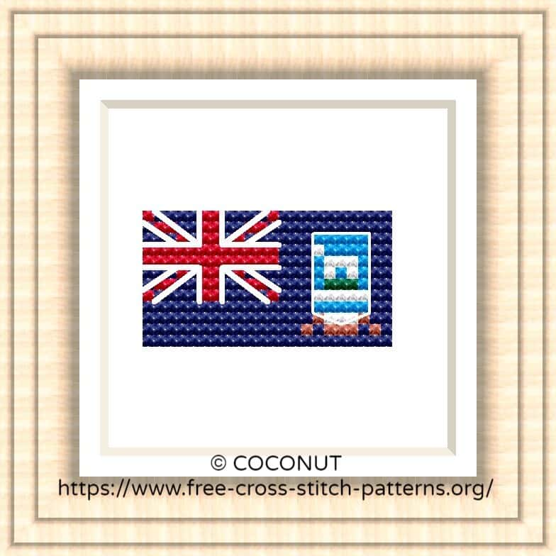NATIONAL FLAG OF FALKLAND ISLANDS CROSS STITCH CHART